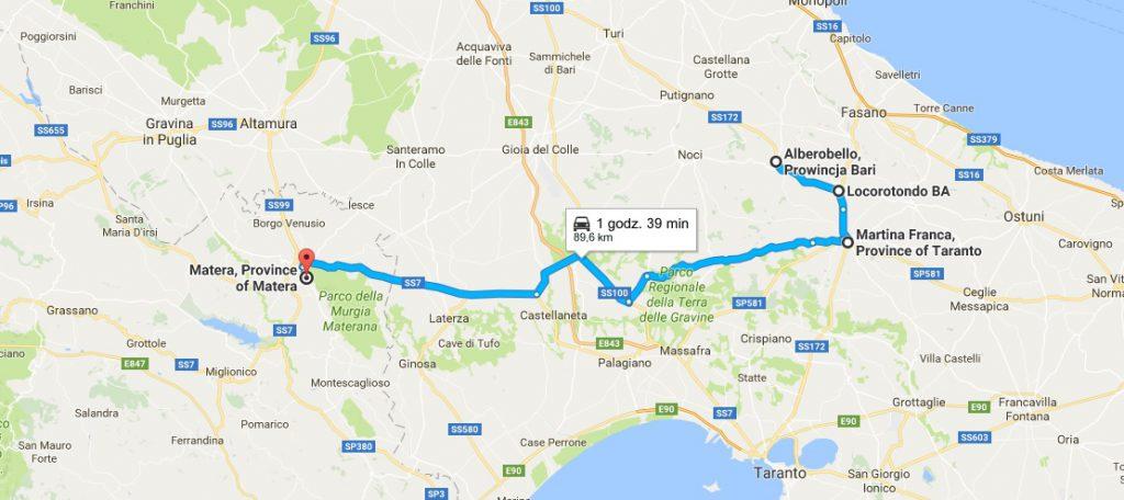 Apulia Matera mapa