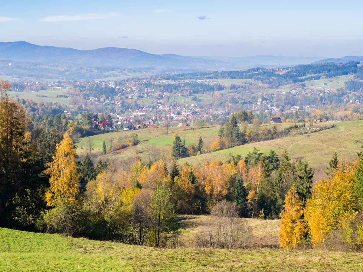 czerwony szlak z Rabki na Maciejową