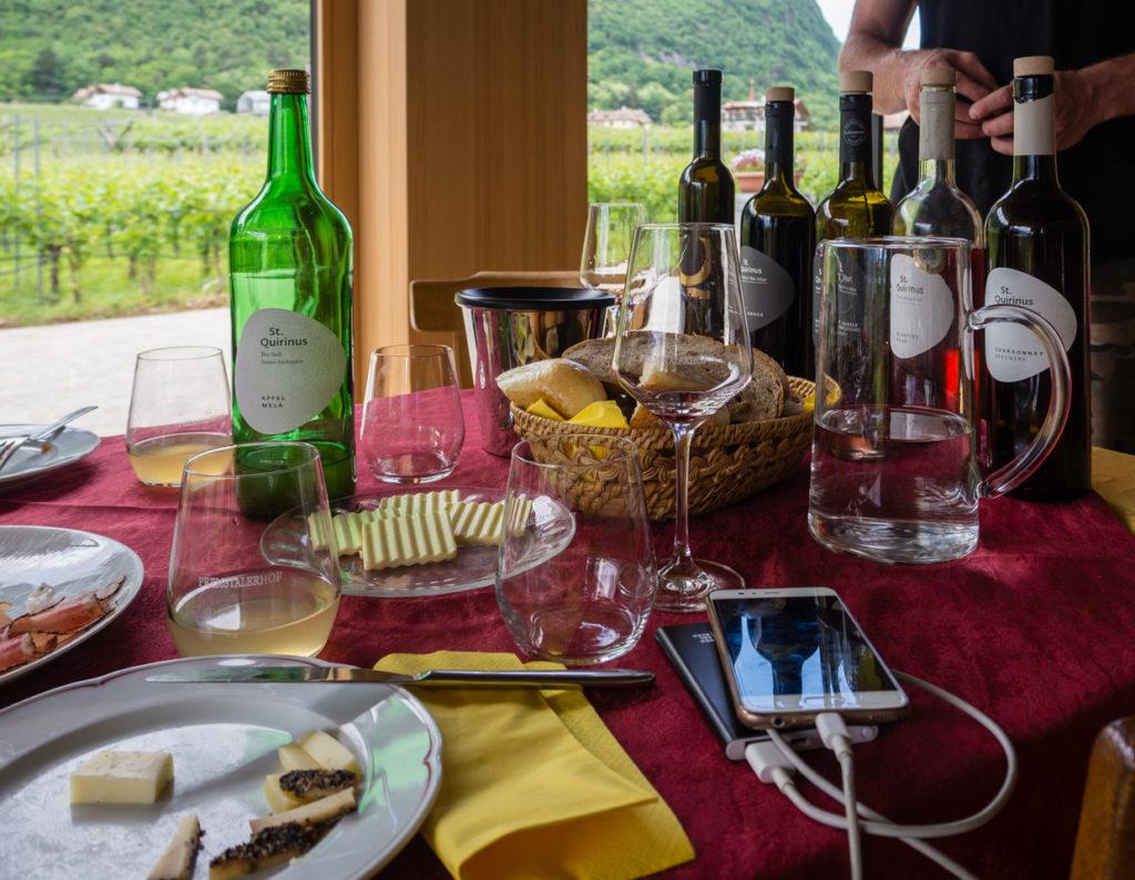 winnice Bolzano - degustacja