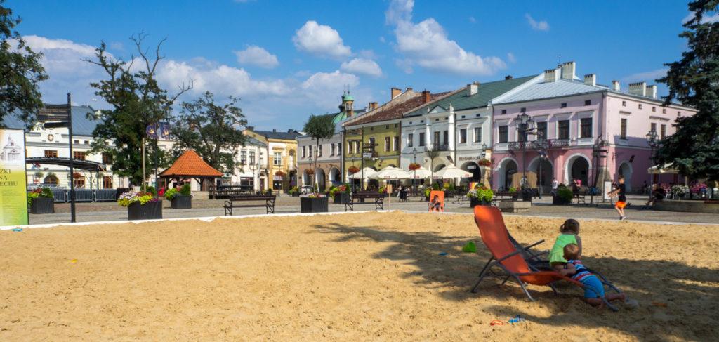 Krosno plaża na rynku