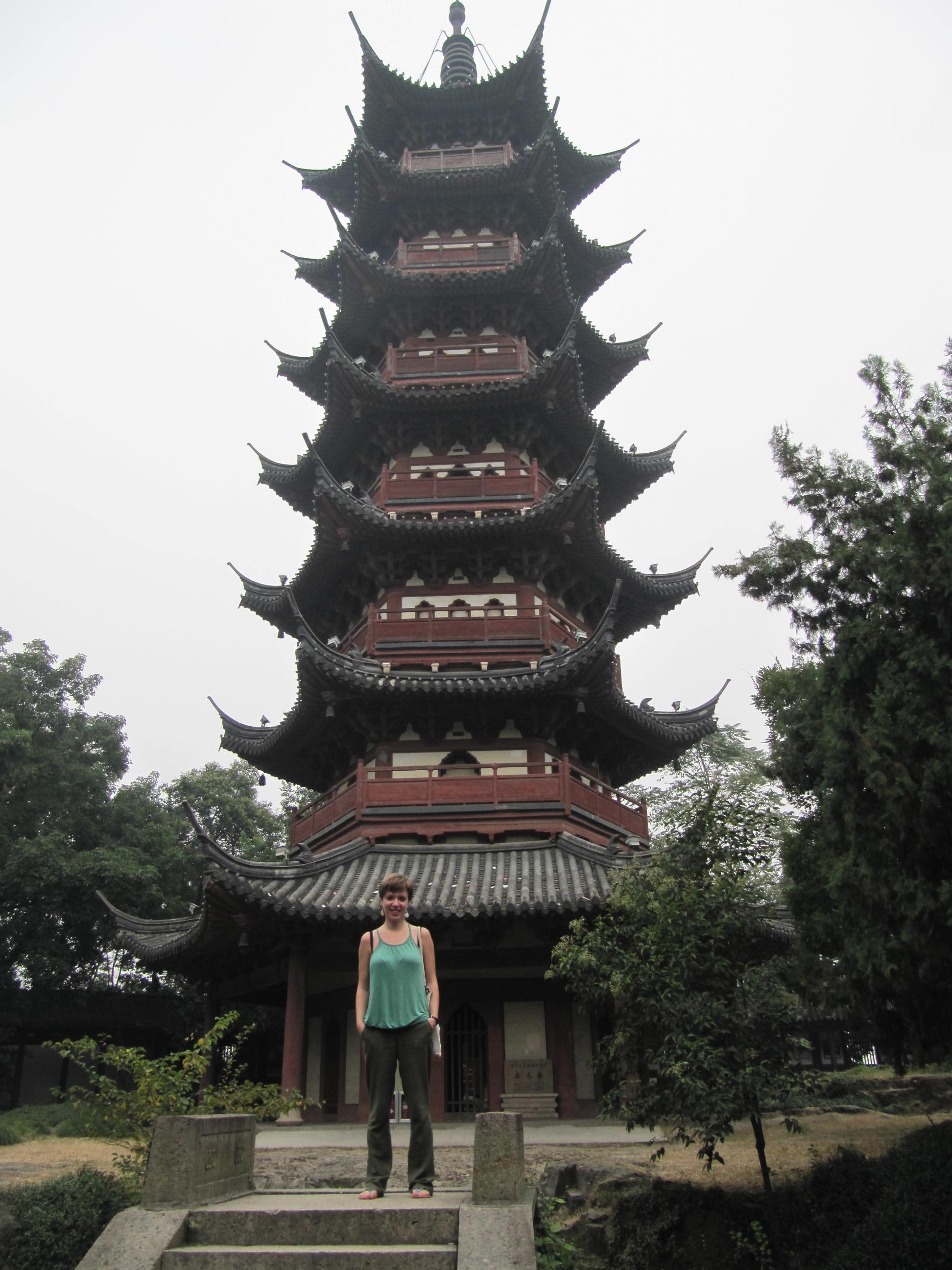 Padoga na wzgórzu w Shaoxing