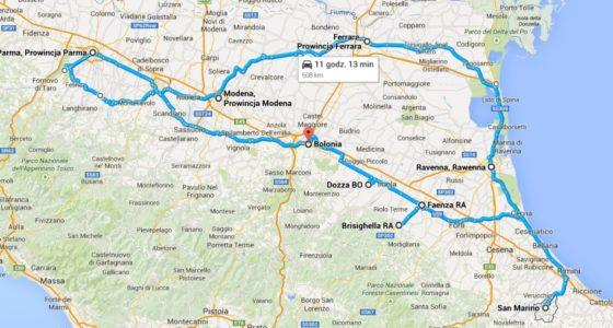 Road trip po Emilii Romanii. Praktyczny plan wycieczki