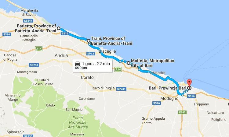 Apulia mapa Bari