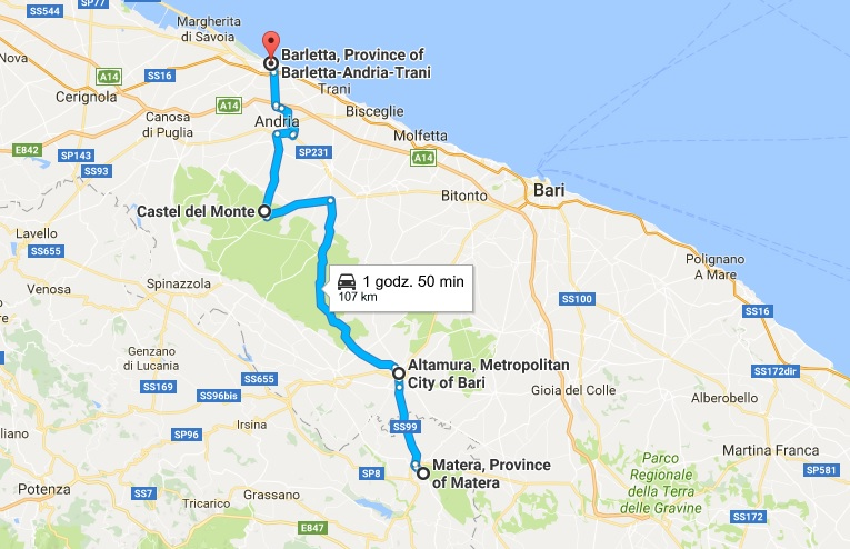 Apulia mapa dzien 8