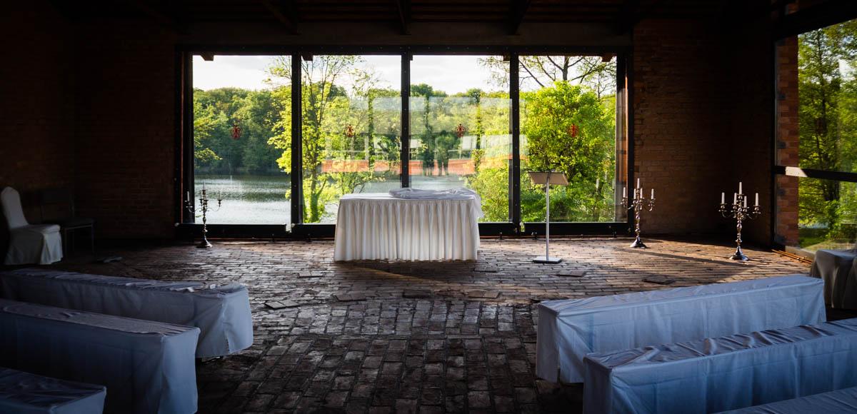 sala ślubna z widokiem na jezioro