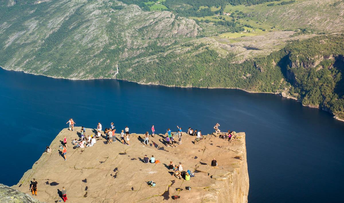 Norwegia najwieksze atrakcje Preikestolen