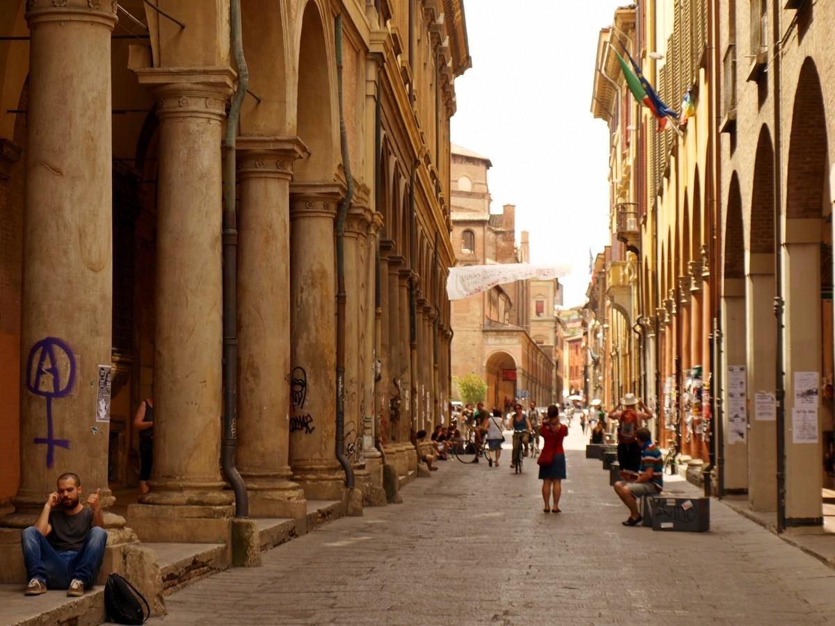 Bolonia Via Zamboni