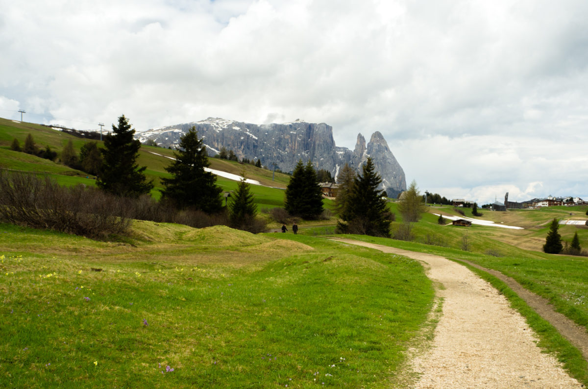 Alpe di siusi z wózkiem