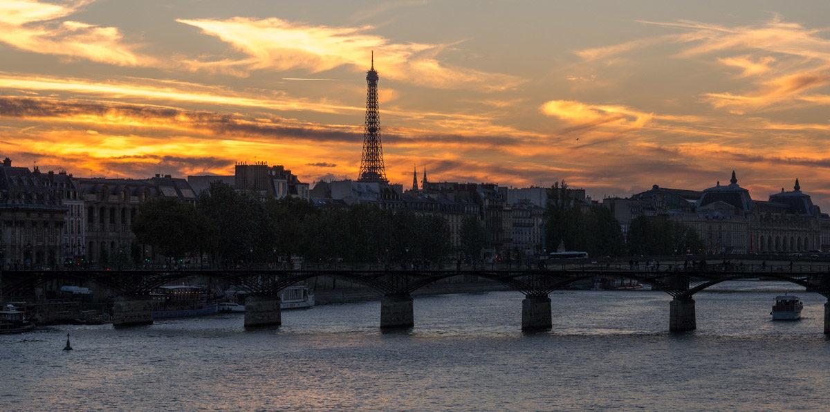 Paryż zachód słońca