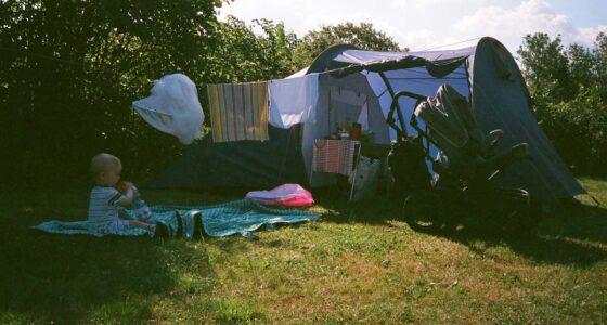 Namiot z niemowlakiem